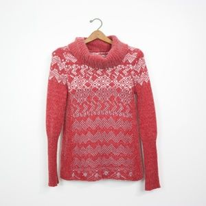 Free People Cowl Neck Red Sweater